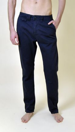 Navy Cotton Turn Up Chinos